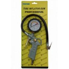 Пистолет для подкачки шин Partner STG-05 с гибким шлангом и манометром